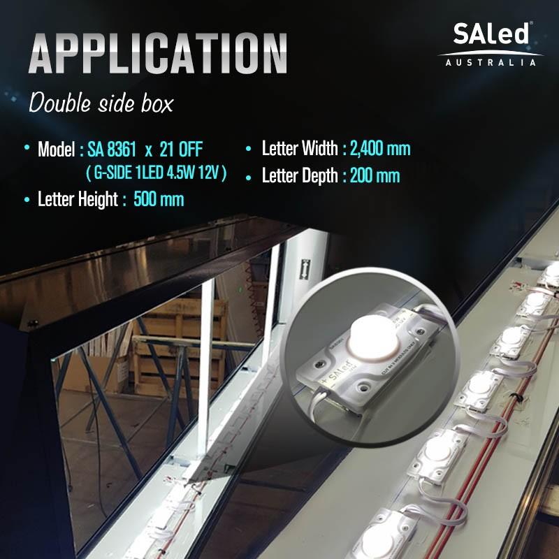 SA G-SIDE 1LED 4.5W 12V W30K Modules (15 modules / unit)