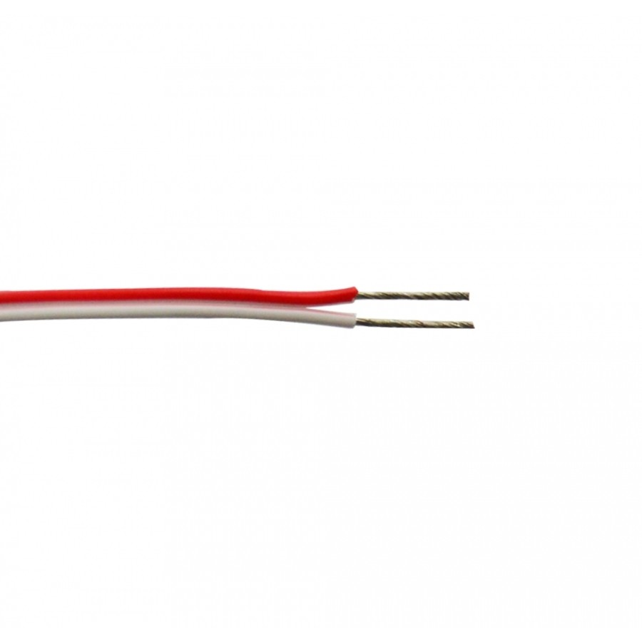 LED WIRE-UL 18AWG RED-WHITE