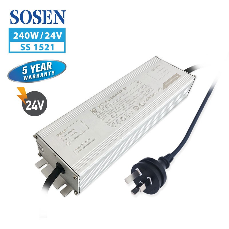 SA SS 240W 10A 24V with 3 pin plug